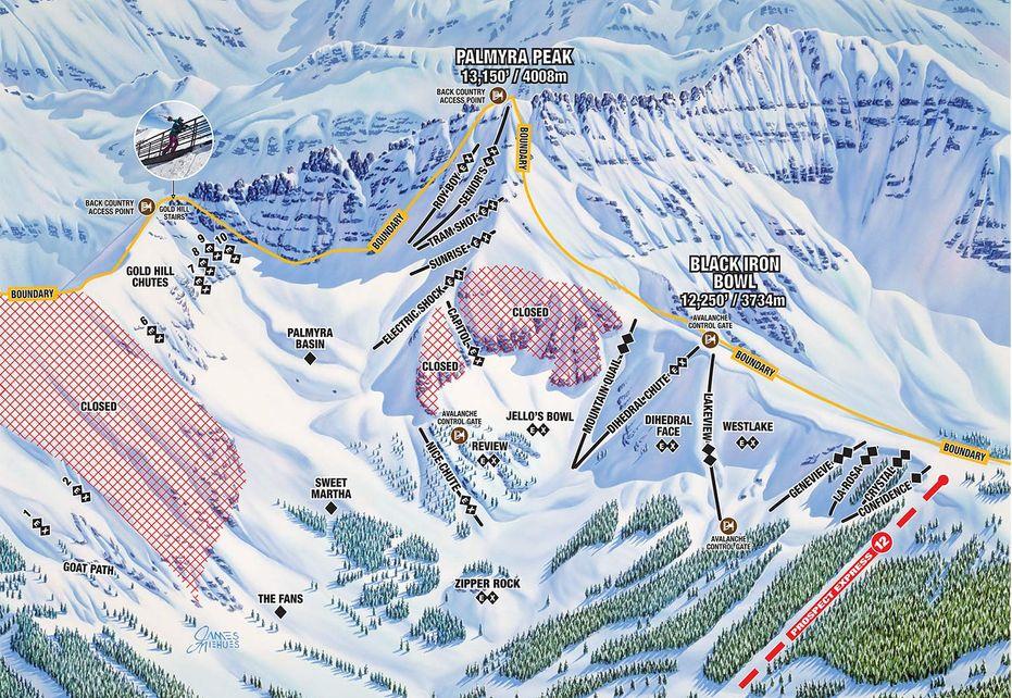 Telluride Ski Trails - Palmyra Peak