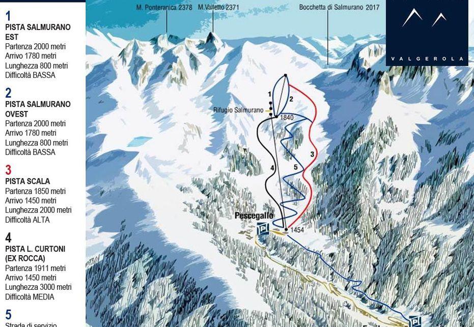 Pescegallo - Valgerola Ski Map