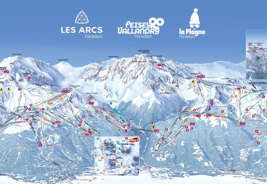 Paradiski Ski Map