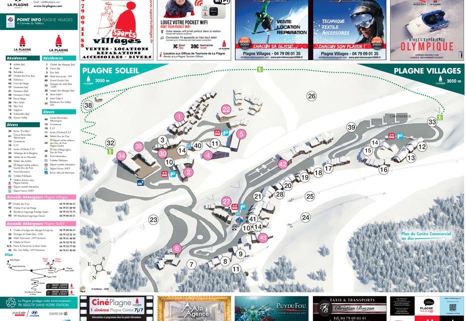 Plagne Villages Ski Resort map