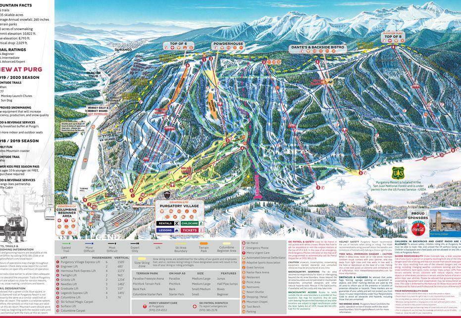 Purgatory Ski Trail Map