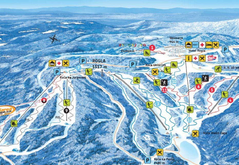 Rogla Ski Map
