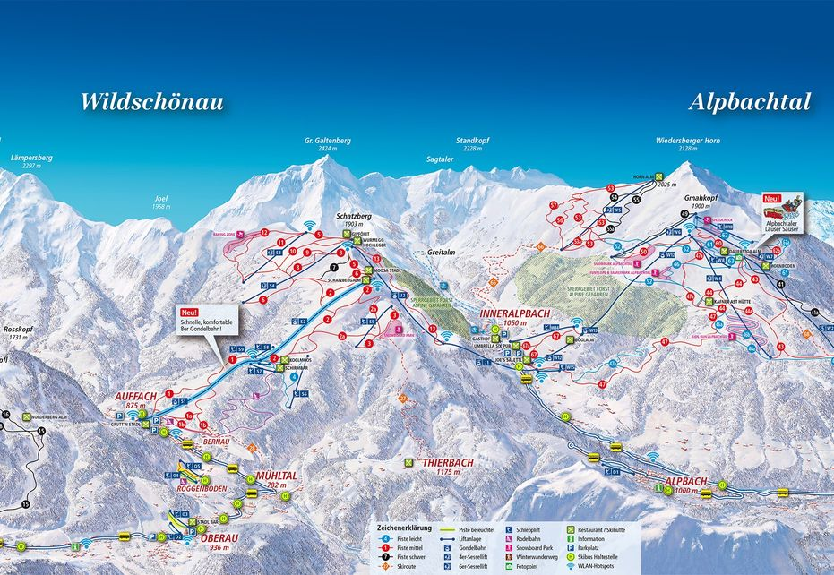 Niederau Ski Map