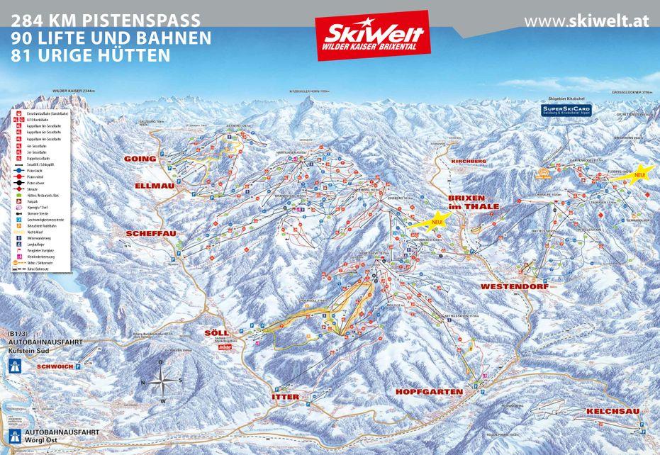 Ski Welt Ski Map