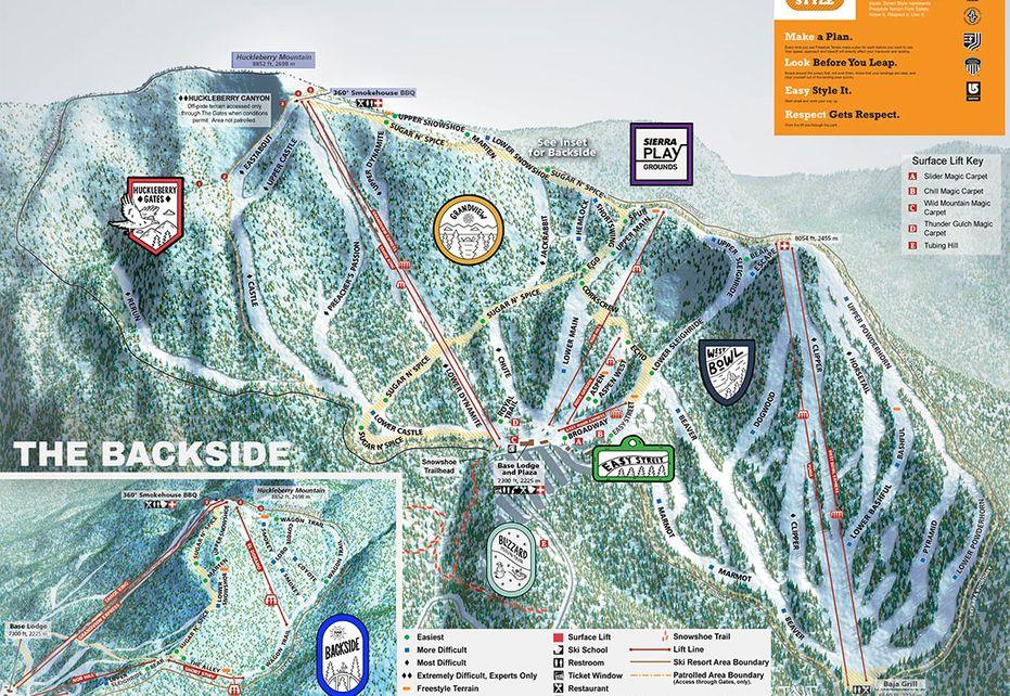 Sierra at Tahoe Ski Trail Map