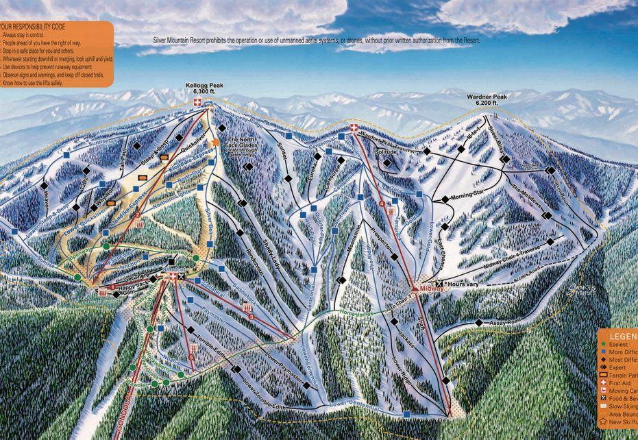 Silver Mountain Ski Trail Map