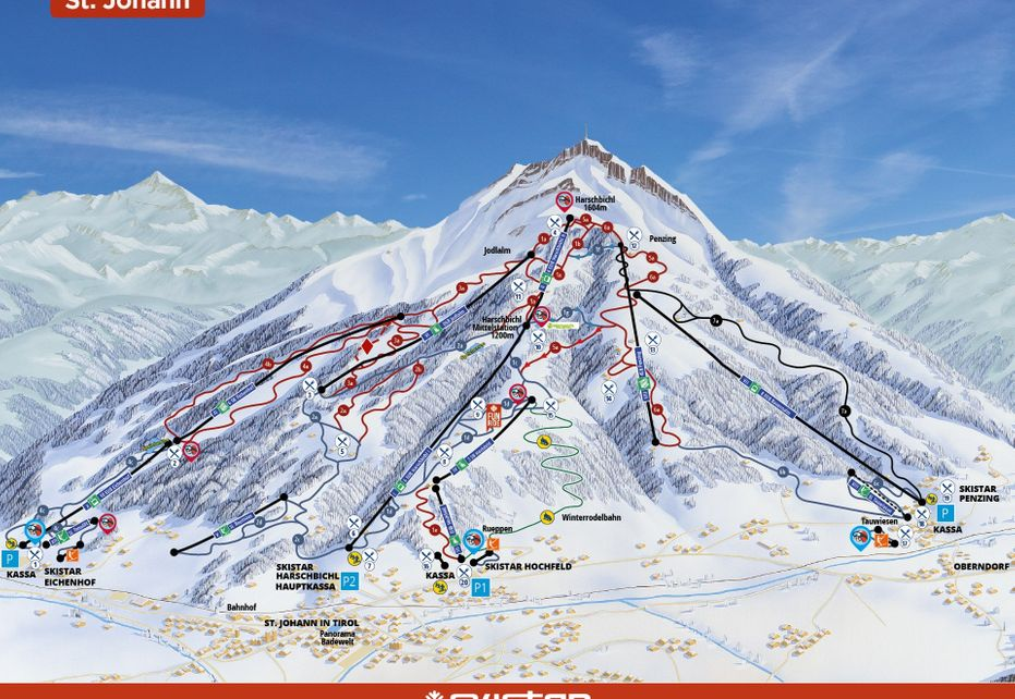 St. Johann Ski Map