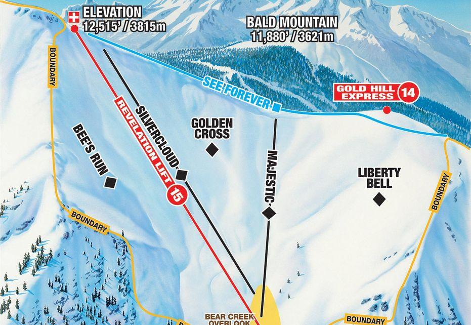 Telluride Ski Trails - Revelation Bowl