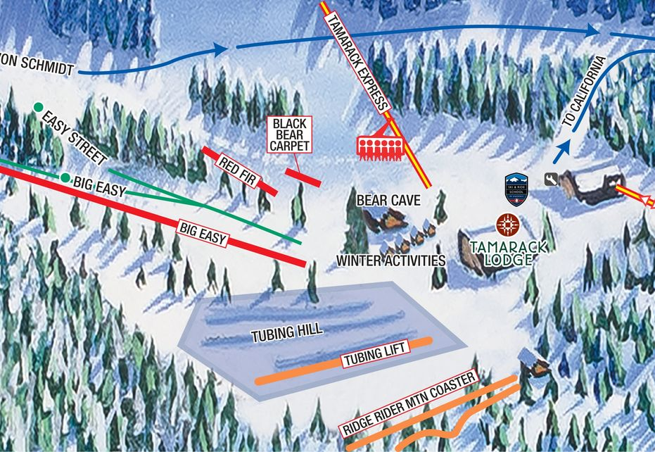 Heavenly Top Gondola Insert Map