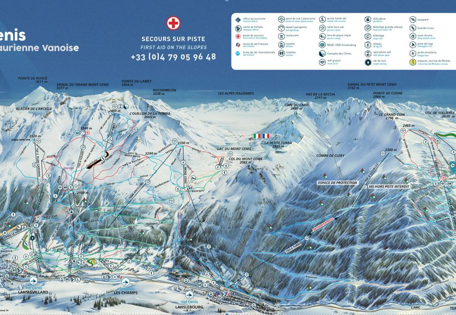 Val Cenis Ski Map