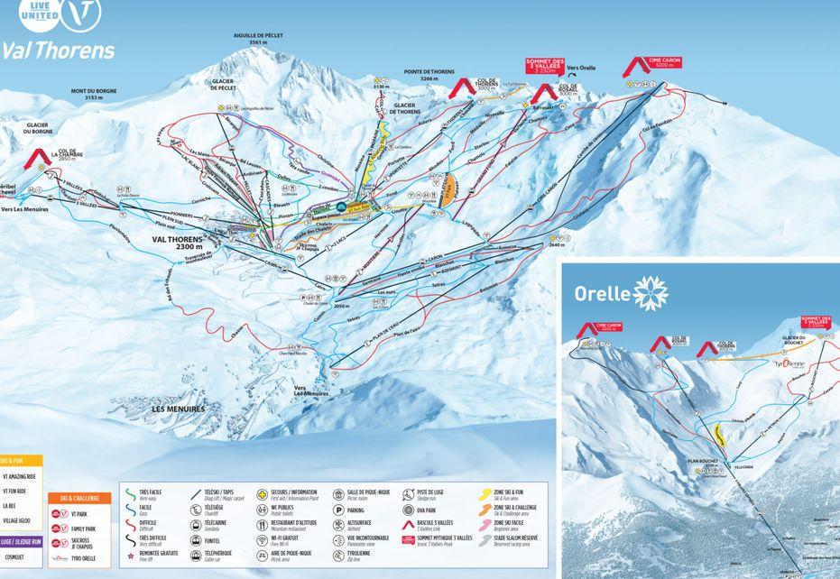 Val Thorens Ski Map