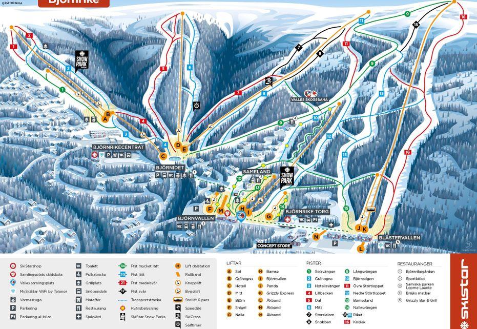 Vemdalen Bjornrike Ski-Map