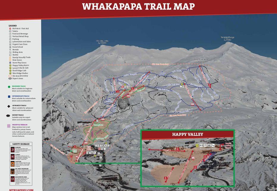 Whakapapa Ski Trail Map