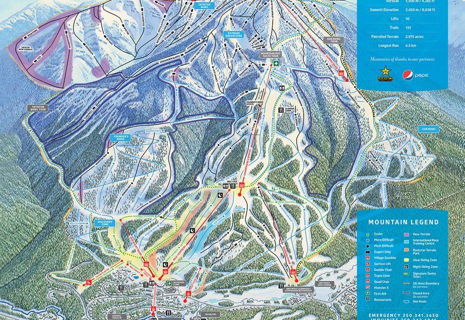 Panorama Ski Trail Map