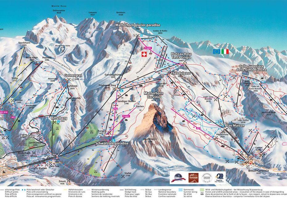 Zermatt Ski Map