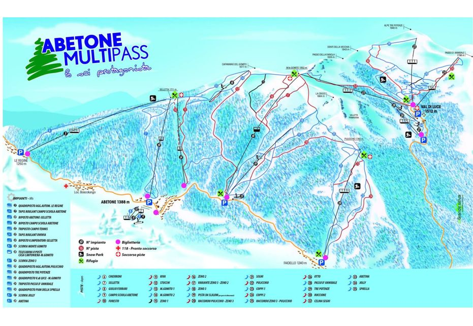 Abetone Ski Map