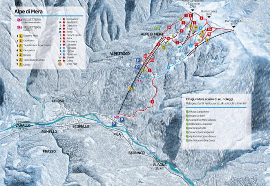 Alpe di Mera Ski Map