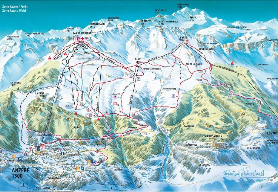 Anzère Ski Map