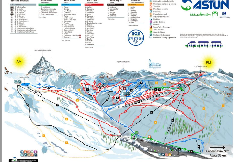 Astun Ski Map