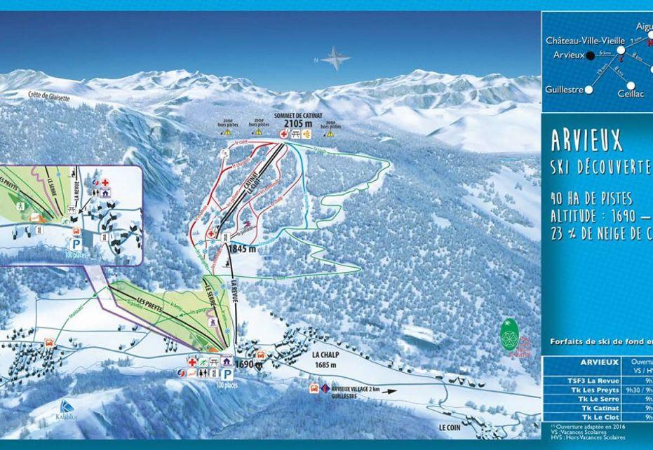 Arvieux Ski Map