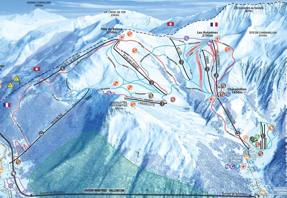 Le Tour Ski Map