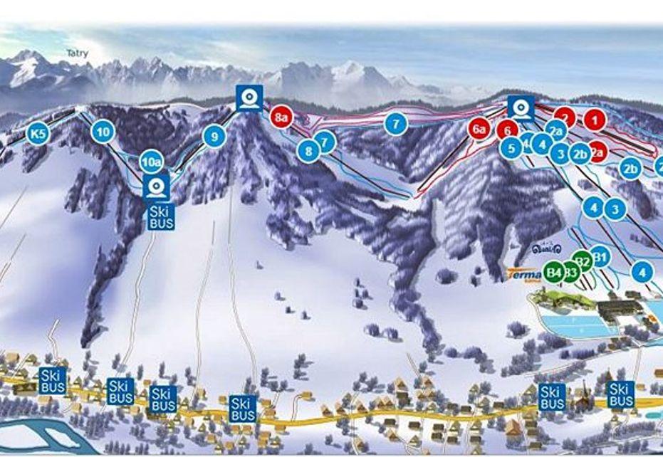 Kaniówka Ski Map