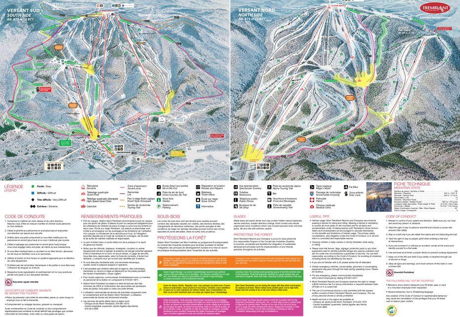 Mont Tremblant Ski Map