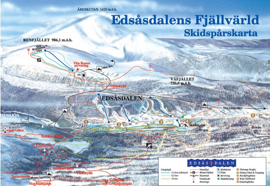 Edsåsdalen Ski map