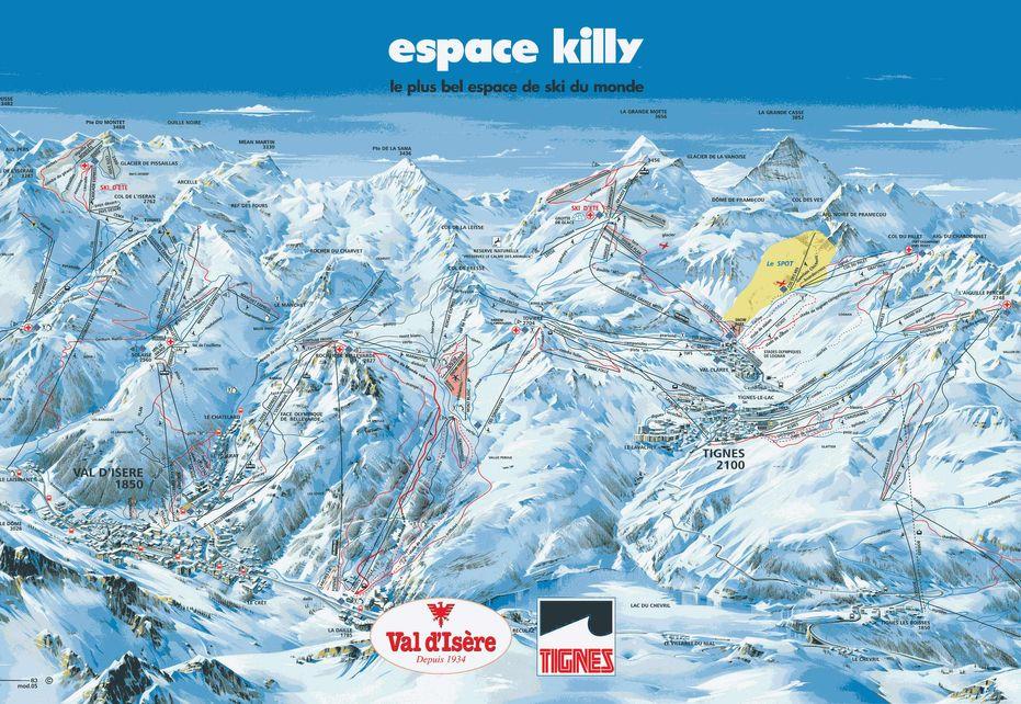 Val dIsere Ski Map