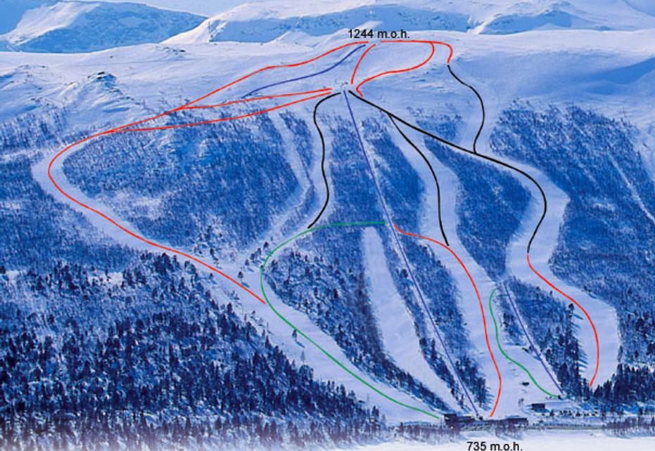 Hallingskarvet Ski Map