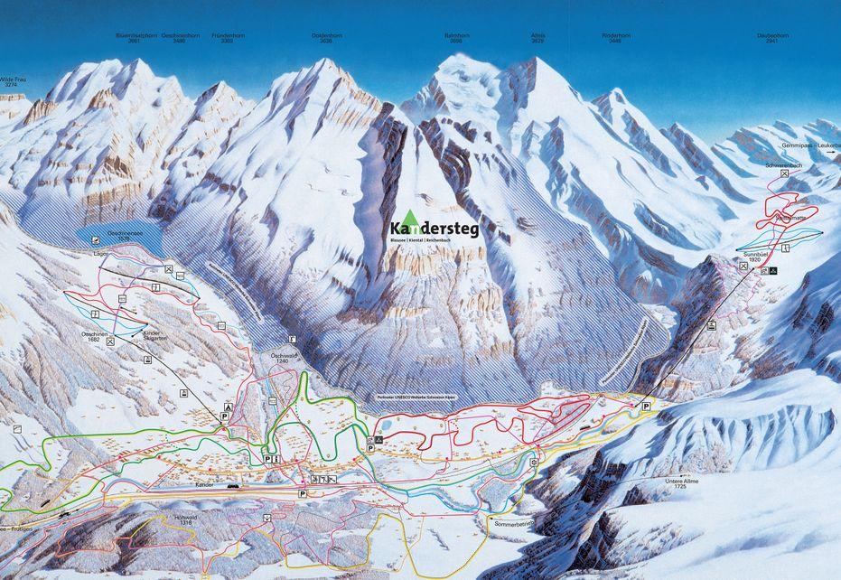 Kandersteg Ski Map