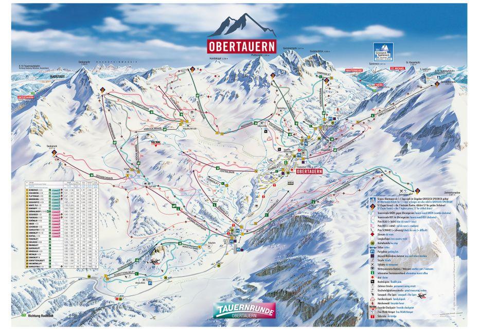 Obertauern Ski Map