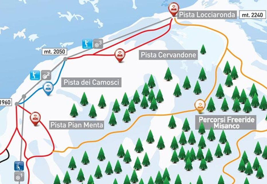 Alpe Devero Ski Map