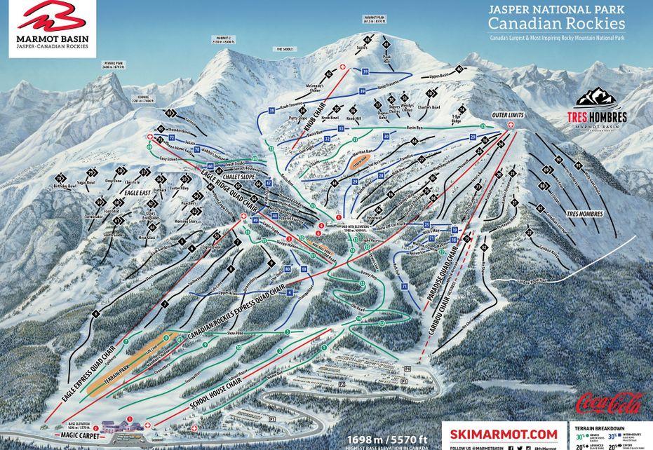 Marmot Basin Ski Trail Map