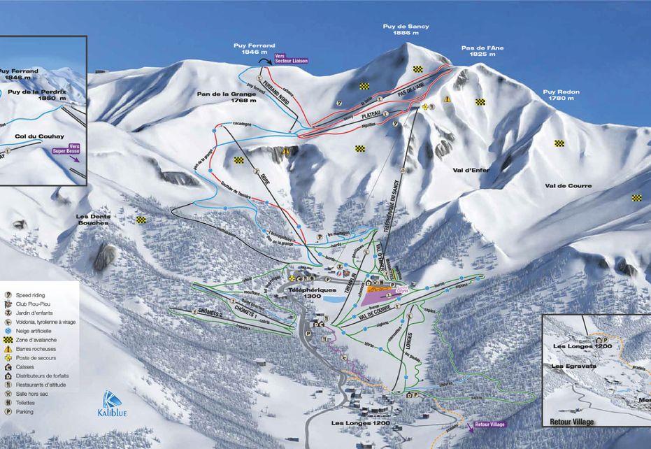 Le Mont Dore Ski Map