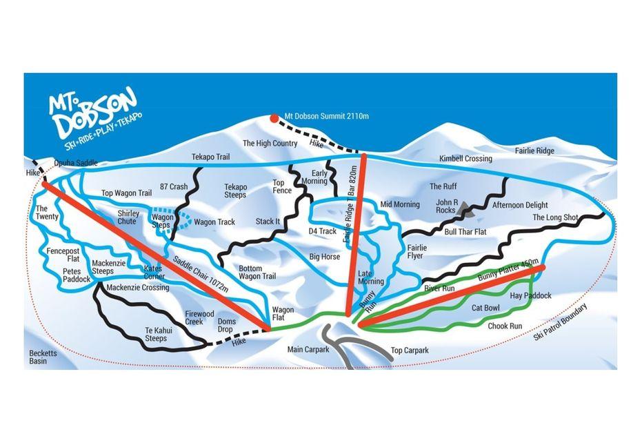 Mt Dobson ski map