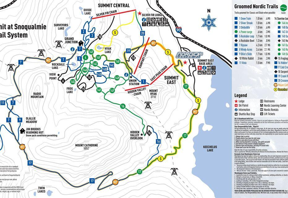 Summit Nordic Ski Trail Map