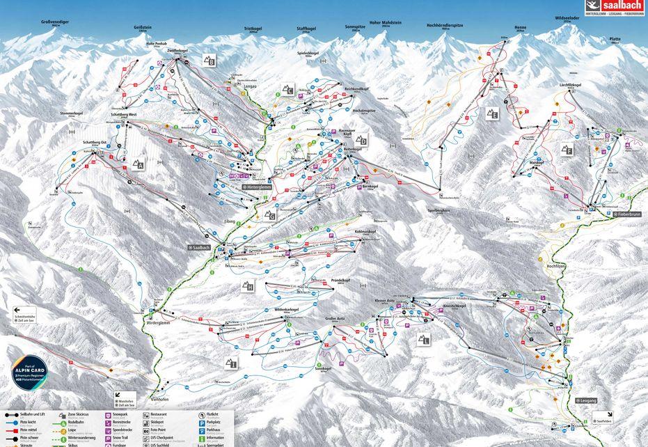 Hinterglemm Ski Circus Ski Plan