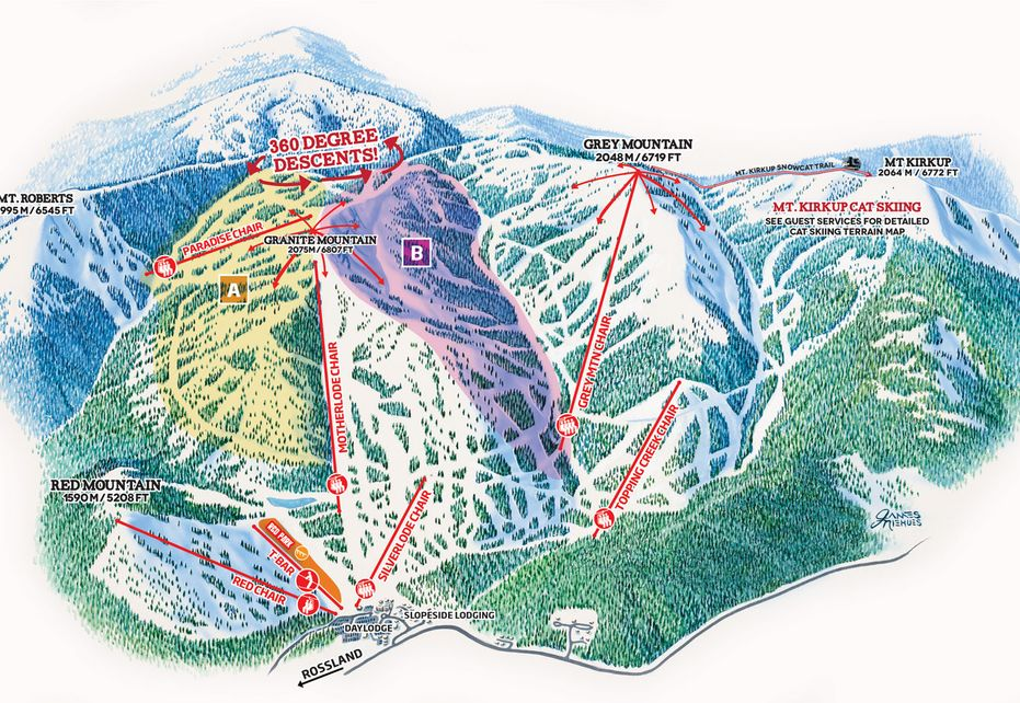 Red Mountain Ski Map Overview