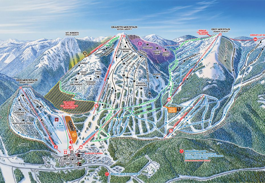 Red Mountain Ski Map - Front