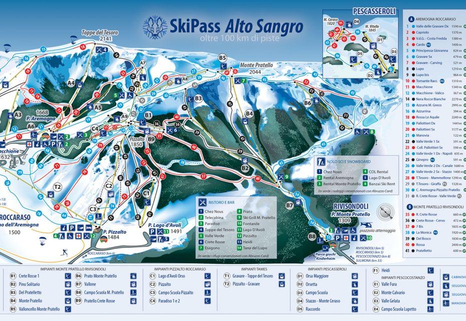 Roccaraso Ski Map