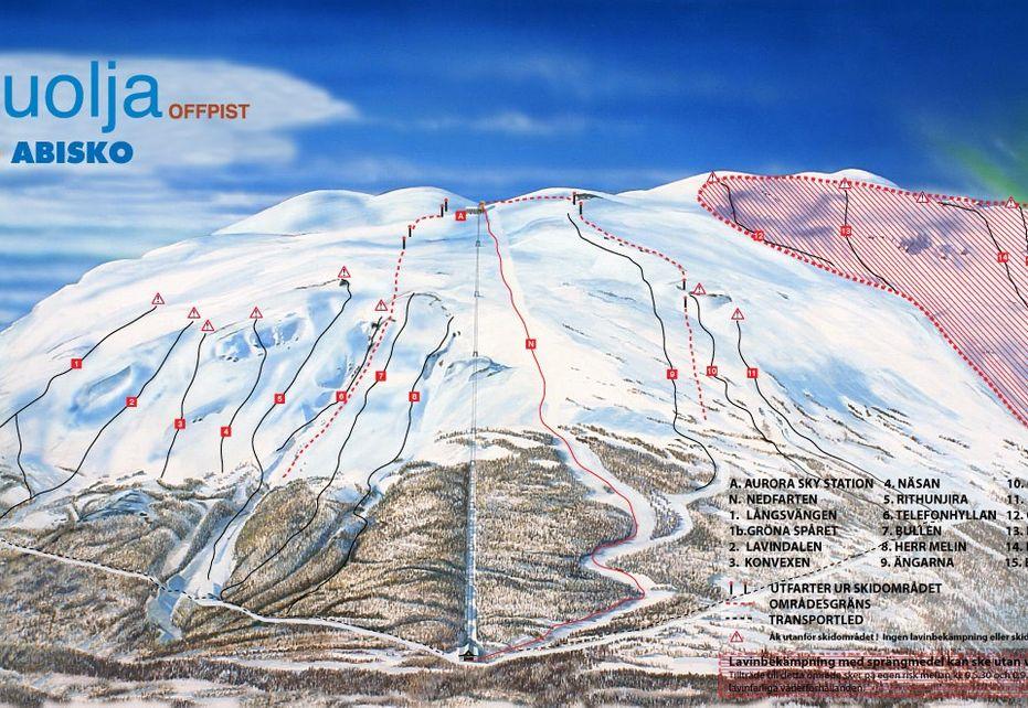 Abisko Nuolja Ski Map