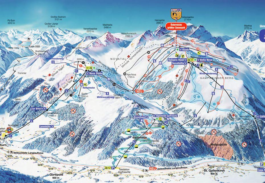 Silvretta Montafon Ski Map