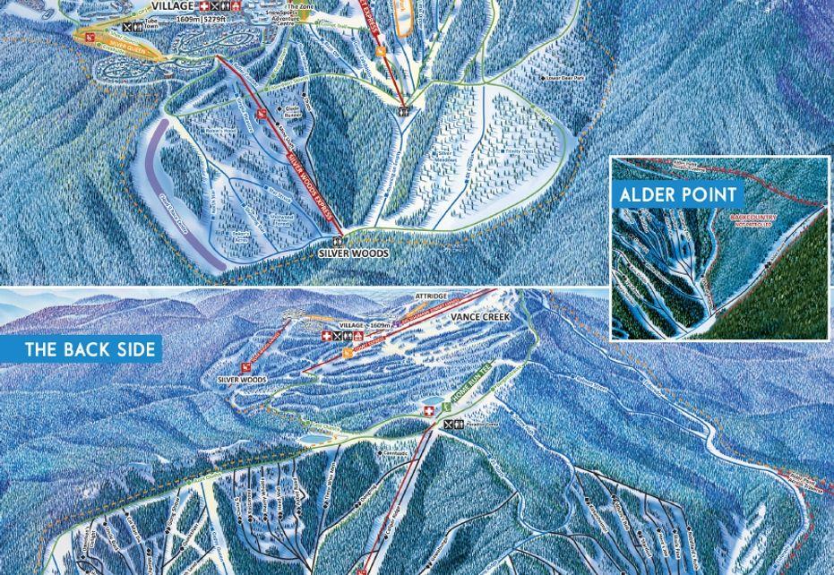 Silverstar Ski Map