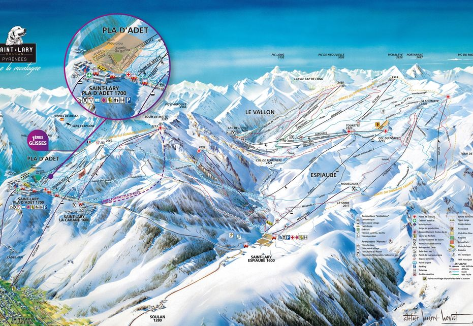 Saint Lary Soulan Ski Map