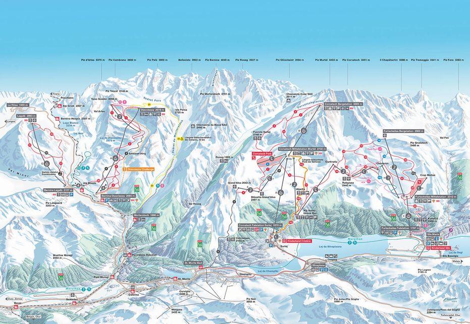 Surlej Ski Map