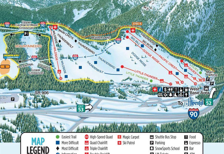 Summit Ski Trail Map - West