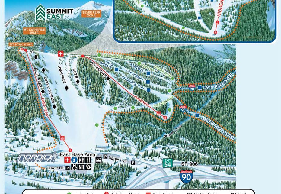 Summit Ski Trail Map - East