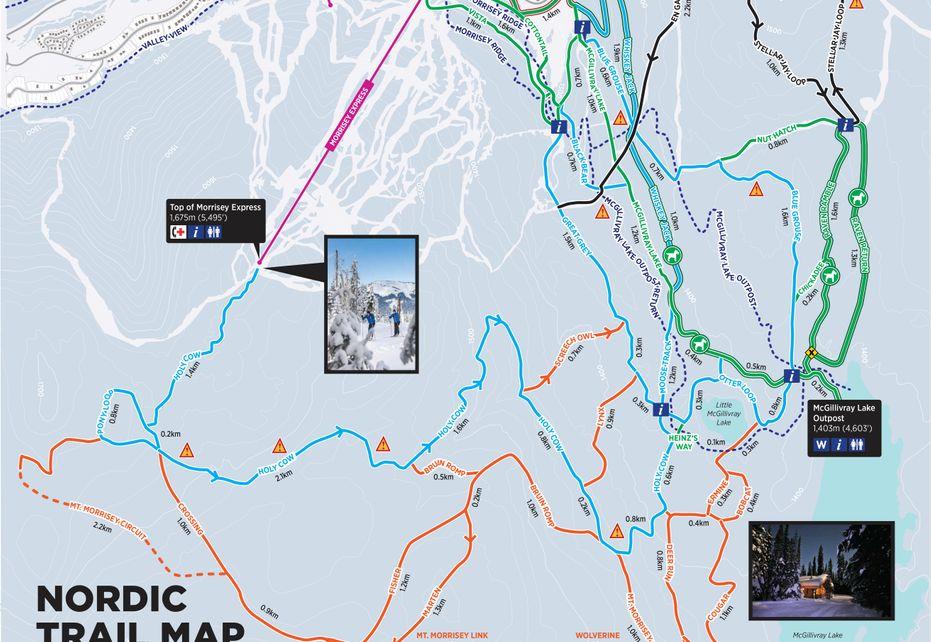 Sun Peaks Nordic Trail Map
