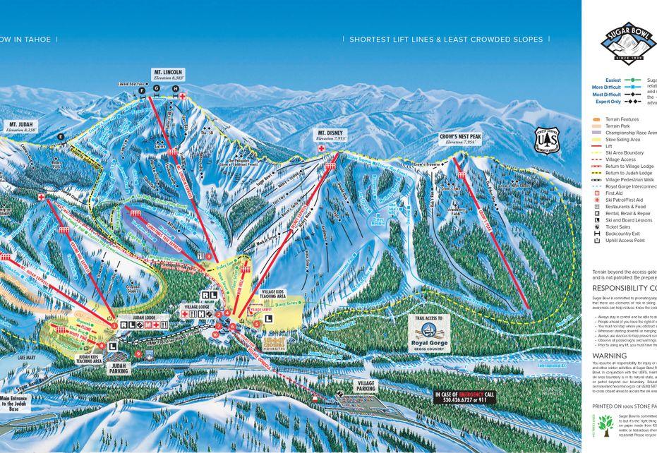 Sugar Bowl Ski Trail Map